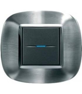 Выключатель Bticino Axolute Фактурная сталь Alessi-AXL