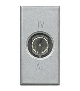 BTicino Розетка ТВ оконечная, цвет - алюминий, 1 модуль