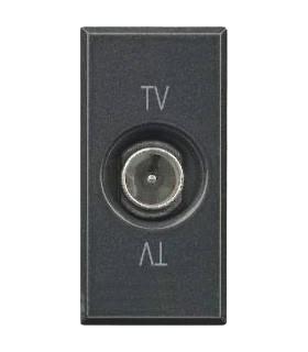 BTicino Розетка ТВ оконечная, цвет - антрацит, 1 модуль