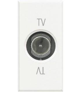 BTicino Розетка ТВ оконечная, цвет - белый, 1 модуль