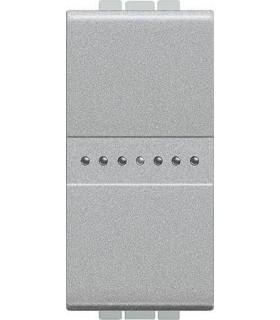 Выключатель Axial с автоматическими клемами Bticino LivingLight (1 модуль) 16A, алюминий