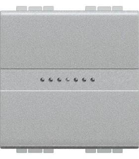 Выключатель Axial с автоматическими клеммами Bticino LivingLight (2 модуля) 16A, алюминий