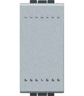 Выключатель с винтовыми клеммами Bticino LivingLight (1 модуль) 16A, алюминий