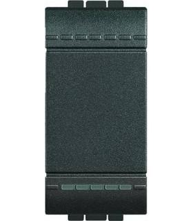 Выключатель с винтовыми клеммами Bticino LivingLight (1 модуль) 16A, антрацит