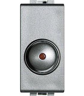 Светорегулятор для активной нагрузки 100 - 500 Вт (1 модуль), Bticino LivingLight, алюминий