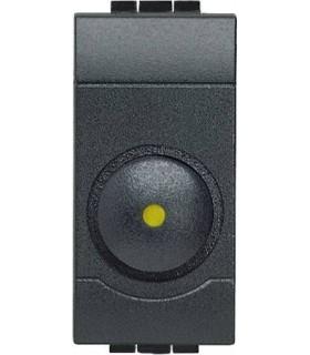 Светорегулятор для активной нагрузки 100 - 500 Вт (1 модуль), Bticino LivingLight, антрацит