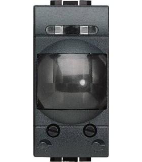 Приёмник с пассивным ИК датчиком движения - для нагрузок до 200 Вт - 230В (1 модуль), Bticino LivingLight, антрацит