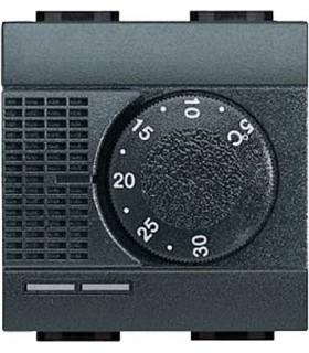 Комнатный термостат 2А, Bticino LivingLight, антрацит