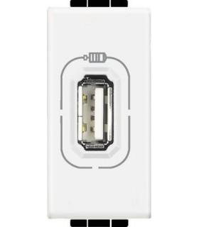 Розетка USB для зарядки электронных устройств, (1 модуль) Bticino LivingLight, белый