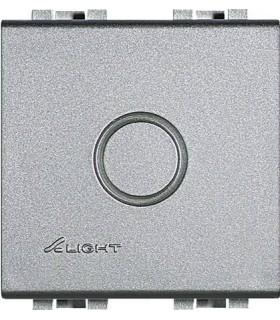 Заглушка с выламываемой вставкой (2 модуля) Bticino LivingLight, алюминий