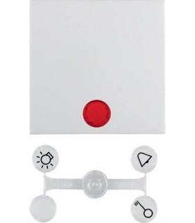 Клавиша Berker S.1, в комплекте с 5 линзами, полярная белизна, глянцевый
