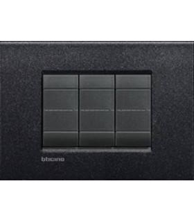 Выключатель Bticino Living-Light Рамка AIR Черная лава-NL