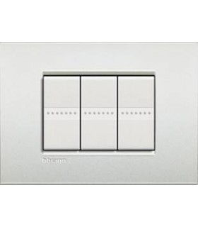 Выключатель Bticino Living-Light Рамка AIR Белый жемчуг-PR