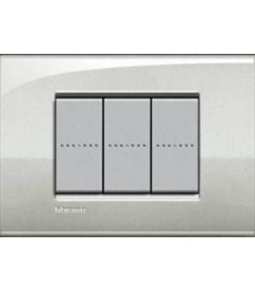 Выключатель Bticino Living-Light Рамка AIR Лунное серебро-GL