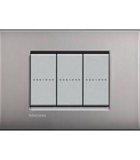 Выключатель Bticino Living-Light Рамка AIR Матовый никель NK