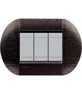 Выключатель Bticino Living-Light рамка овал Темный дуб-LRW