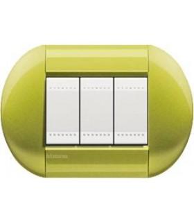 Выключатель Bticino Living-Light рамка овал Лимон-CT