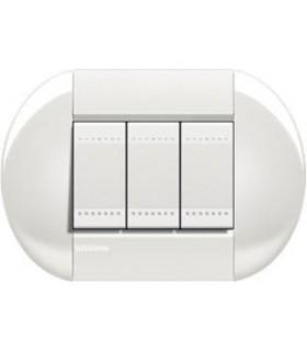 Выключатель Bticino Living-Light рамка овал Белый-BI