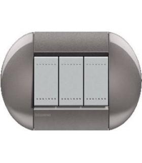 Выключатель Bticino Living-Light рамка овал Серый-TG