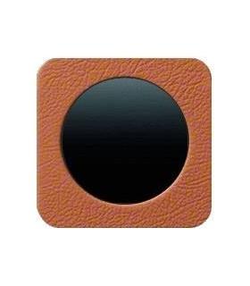 Выключатель в сборе Berker серии R.1 кожа, коричневый
