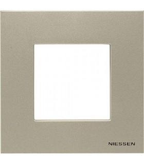 Рамка на 1 пост (2 модуля) ABB Niessen Zenit, шампань