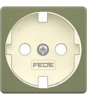 Обрамление розетки 2к+з FEDE, green olive + beige