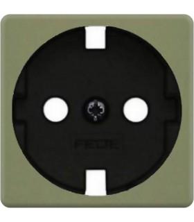 Обрамление розетки 2к+з FEDE, green olive + black