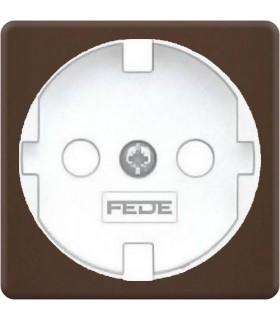 Обрамление розетки 2к+з FEDE, moka + white