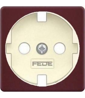 Обрамление розетки 2к+з FEDE, red wine + beige