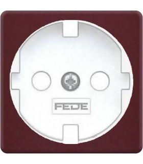 Обрамление розетки 2к+з FEDE, red wine + white