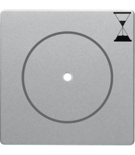 Центральная панель с нажимной кнопкой для механизма реле времени Berker Q.1/Q.3, алюминий с эффектом бархата