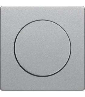 Центральная панель с регулирующей кнопкой для поворотного диммера Berker Q.1/Q.3, алюминий с эффектом бархата