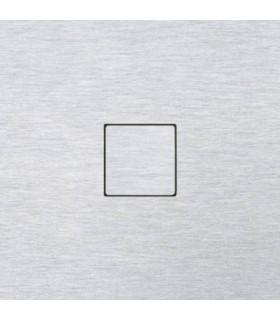 Выключатель однокнопочный в сборе CJC серия LISA, алюминий
