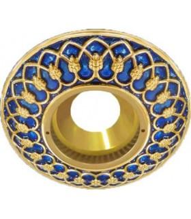 Круглый точечный светильник Brusi Barcelona коллекция Versailles, blue sapphire