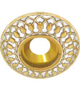 Круглый точечный светильник Brusi Barcelona коллекция Versailles, pearl white