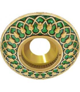 Круглый точечный светильник Brusi Barcelona коллекция Versailles, emerald green