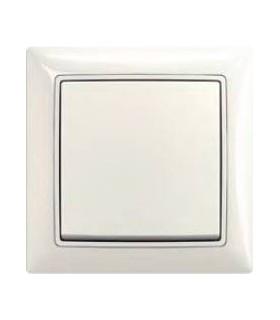 Выключатель одноклавишный в сборе ABB серия basic 55, chalet-белый