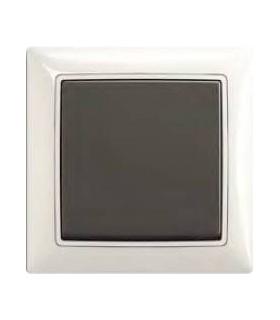 ABB Выключатель серии basic 55 Chalet-белый / Chateau-чёрный
