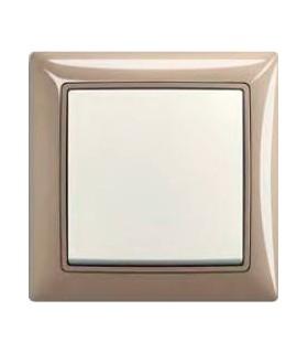 ABB Выключатель серии basic 55 Maison-бежевый / Chalet-белый