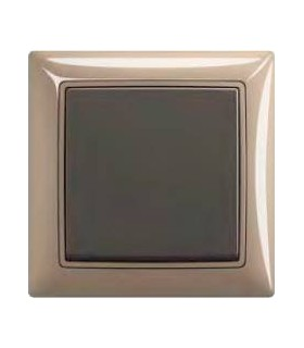 ABB Выключатель серии basic 55 Maison-бежевый / Chateau-чёрный