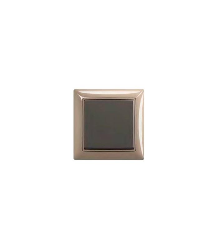 Выключатель серии basic 55 Maison-бежевый/Chateau-чёрный