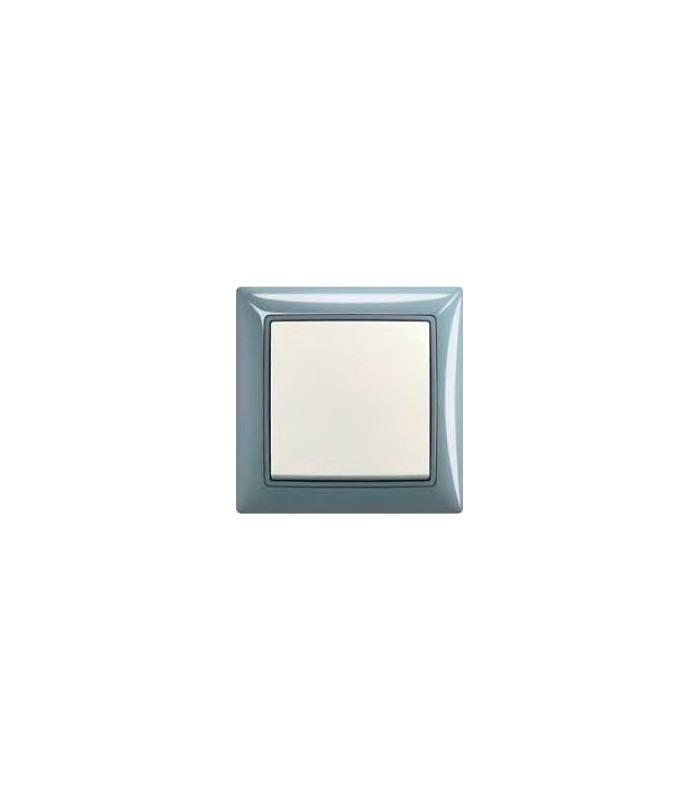 Выключатель серии basic 55 Bistro-синий/Chalet-белый