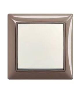 ABB Выключатель basic 55 Entree-серый / Chalet-белый