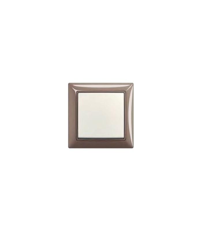 Выключатель basic 55 Entree-серый/Chalet-белый