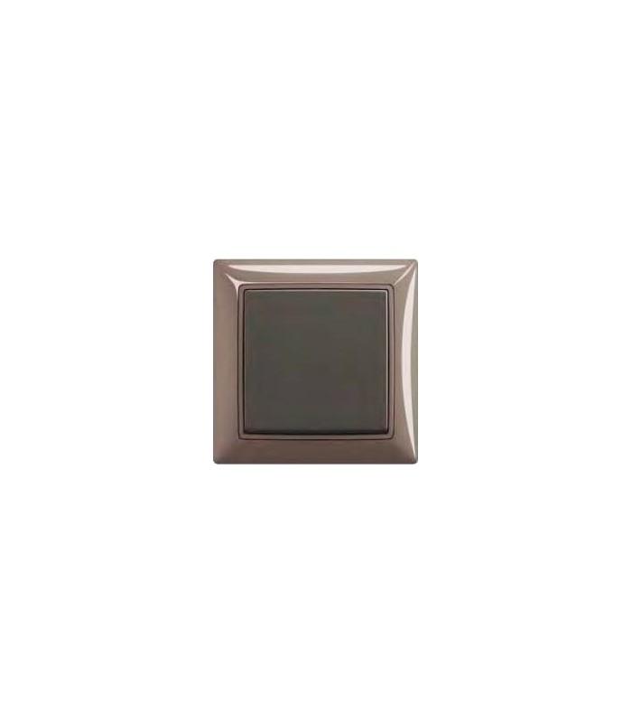 Выключатель basic 55 Entree-серый/Chateau-чёрный