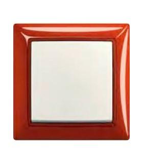 ABB Выключатель basic 55 Foyer-красный / Chalet-белый