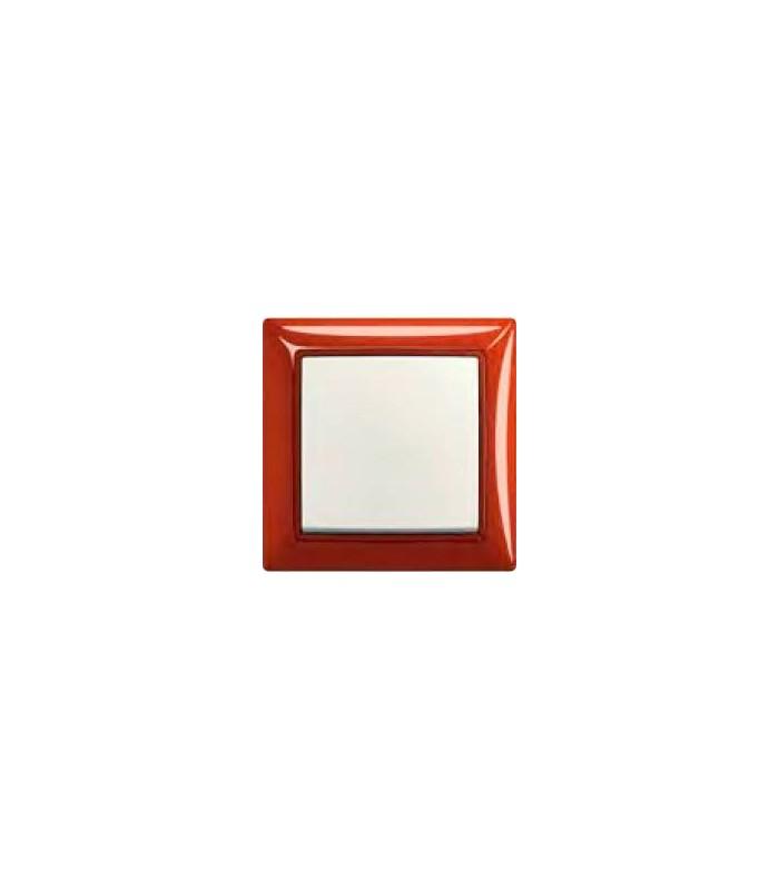 Выключатель basic 55 Foyer-красный/Chalet-белый