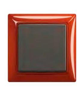 ABB Выключатель basic 55 Foyer-красный / Chateau-чёрный