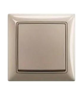 Выключатель одноклавишный в сборе ABB Basic55, шампань