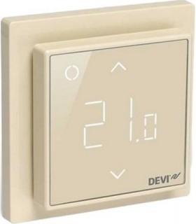 Терморегулятор DEVI DEVIreg™ Smart интеллектуальный 16А с Wi-Fi, бежевый